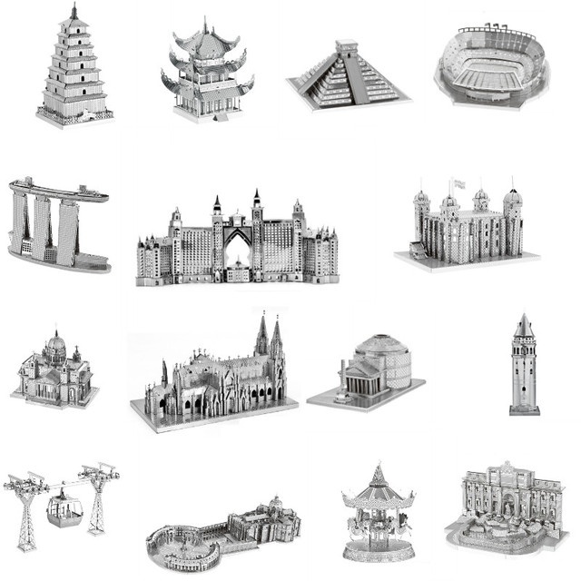 Architecture 3D Metal Puzzles World  1
