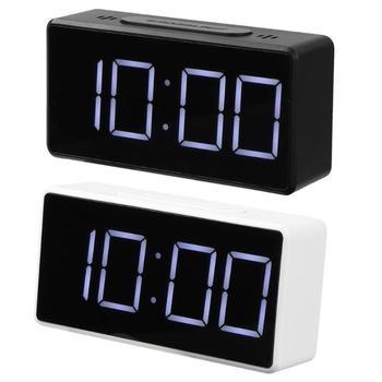 Zegar cyfrowy budzik LED z portem USB zegar drzemki elektroniczne zegary biurkowe tanie i dobre opinie JOCESTYLE Z tworzywa sztucznego Luminova DIGITAL Table Electronic Clock Plac 10mm lap timer bathroom clock home electronic clock