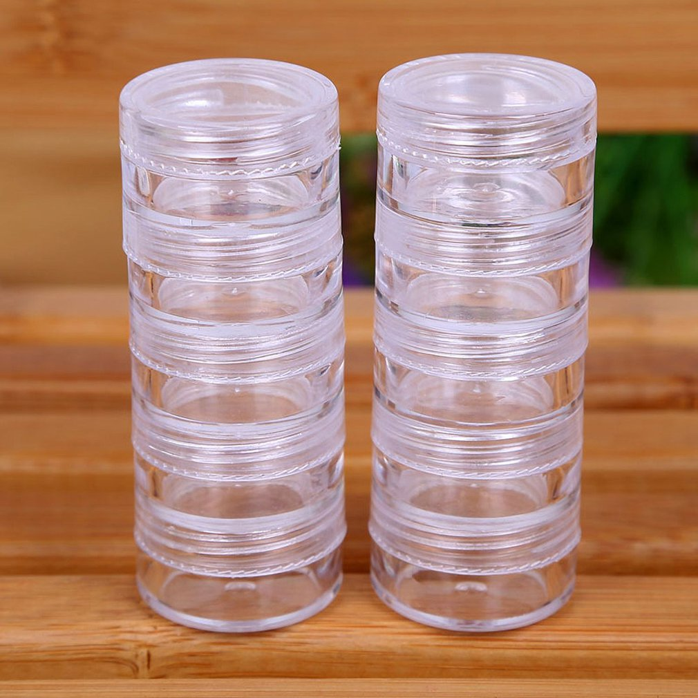 Rotatable Cosmetic Organizer Store Qtip Container Transparent Small Swabs Box Jewelry Storage Box Holder and Candy Jars