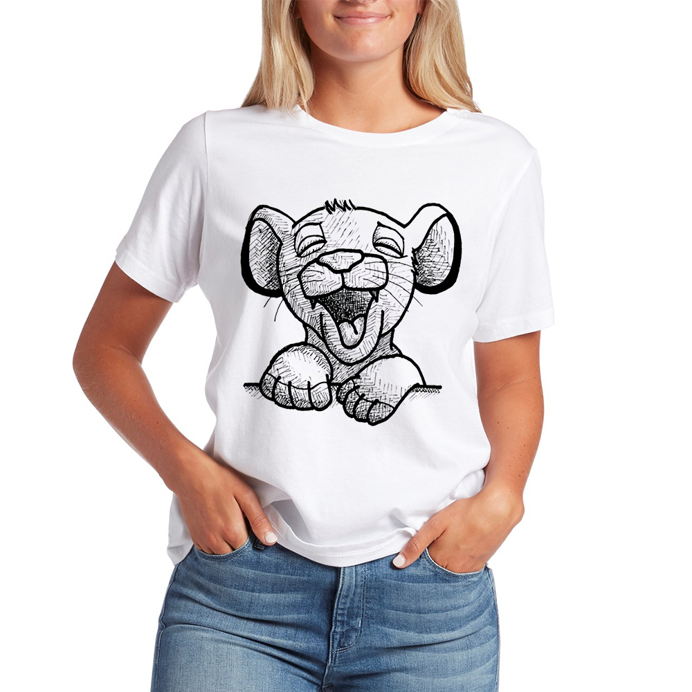 Hip Hop Cute Women's Shirt Disney's The Lion King T Shirt Women Ropa Mujer Graphic T-shirts Streetwear Spring Summer Tshirt