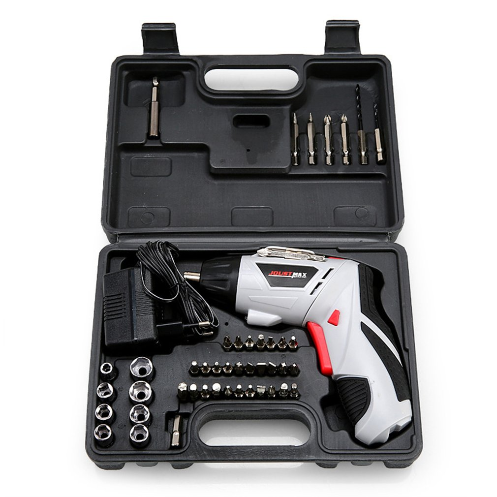 4.8V Multifunction Electric Screwdriver Set Rechargeable Electric drill tools Household Cordless Drill With Carry Case|Hand Tool Sets| |  - title=