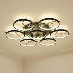 Nowe chińskie lampy sufitowe kreatywny nowoczesne lampy sufitowe do salonu dla przejściach i korytarzach balkon ganek lampara tec okrągły doprowadziły lampa sufitowa