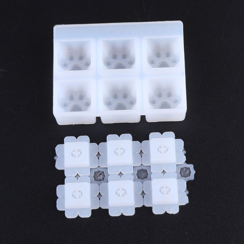 Silicone Mold Resin Casting Epoxy Crafts Mould DIY Key Cap Keyboard Tools