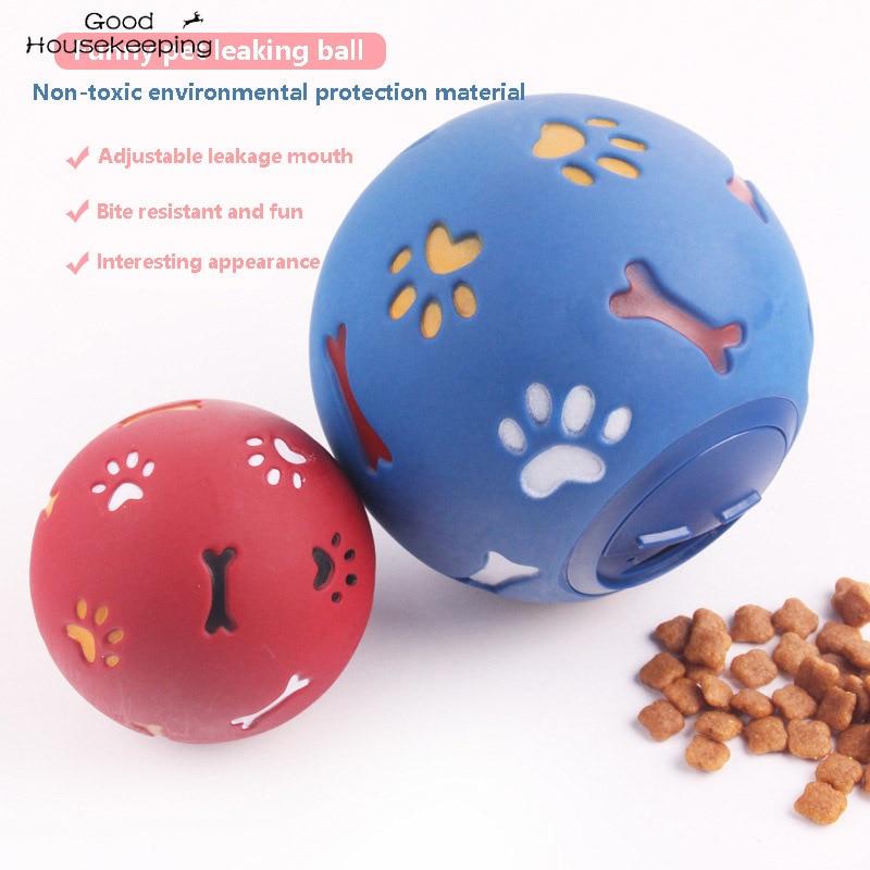Игрушки для домашних питомцев, эластичный мяч для еды, Интерактивная игрушка для жевания для собак, мячи для чистки зубов для щенков, игрушк...