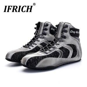 ¡Novedad de 2020! Lujosos zapatos de boxeo para hombre, botas de lucha profesional de goma, Zapatillas altas para hombre, botas de boxeo de diseñador para hombre, talla 39-45