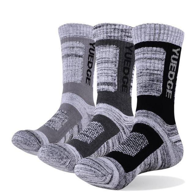 YUEDGE Brand 3 Pairs Cotton Socks