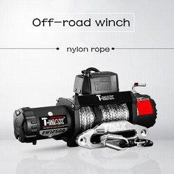 12v £ 12500 nylon touw lier voor off-road lier Met draadloze afstandsbediening
