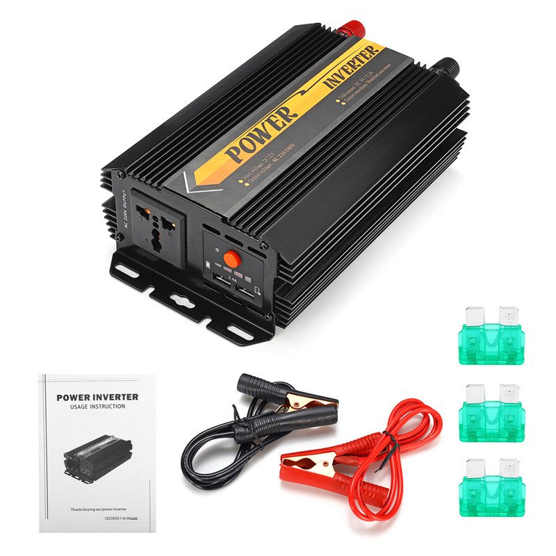 Dual USB Max 6000 Watts 3000W Power Inverter DC 12 V to AC 220 Volt Car Adapter Charge Converter Modified Sine Wave Transformer 27