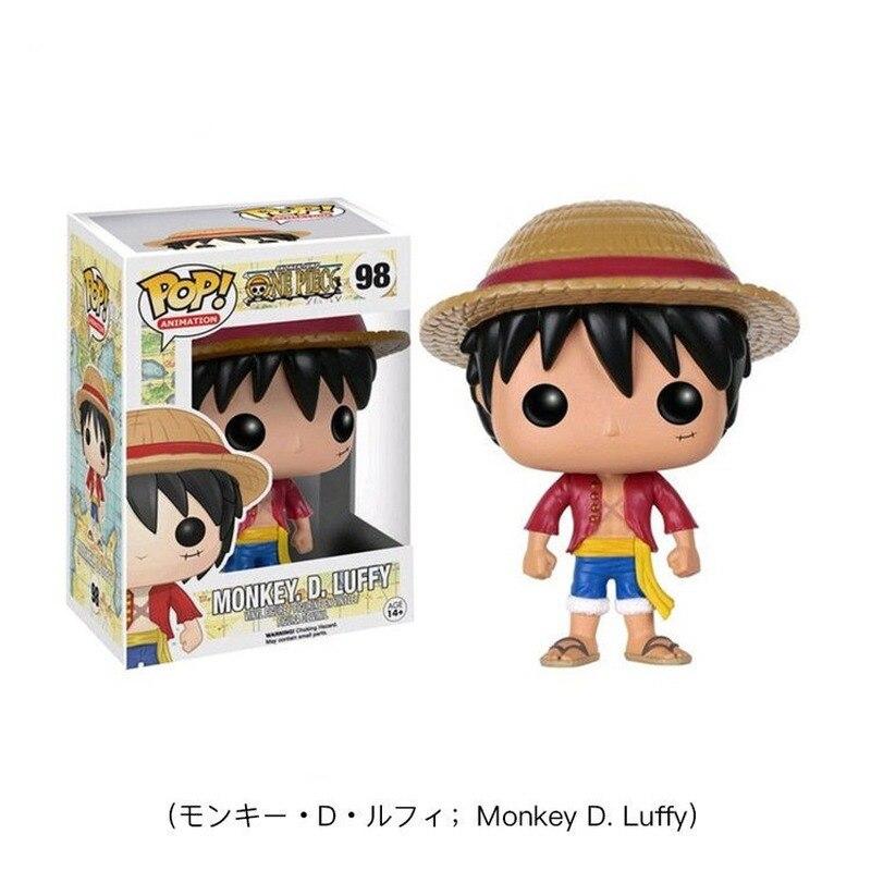 FUNKO POP японское аниме One Piece Luffy ACE LAW Tony Chopper Roronoa Zoro виниловые экшн-Фигурки игрушки для детей Рождественский подарок