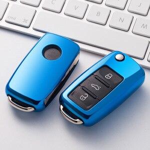 Image 5 - Funda protectora para llave de coche de TPU, funda protectora para llave de coche para nuevo Passat VW Lavida coche Tiguan, accesorios de estilismo para coche de colores