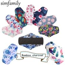[Simfamily] – Serviettes hygiéniques réutilisables pour femme, 10 pièces, flux régulier, tampons menstruels, doublures de culotte lavables