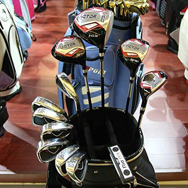 TMT 12 Piece Golf Clubs Complete Set for Men Includes Titanium Driver 3 & #5 Fairway Woods 4 Hybrid 5-SW Irons Putter and Bag 6