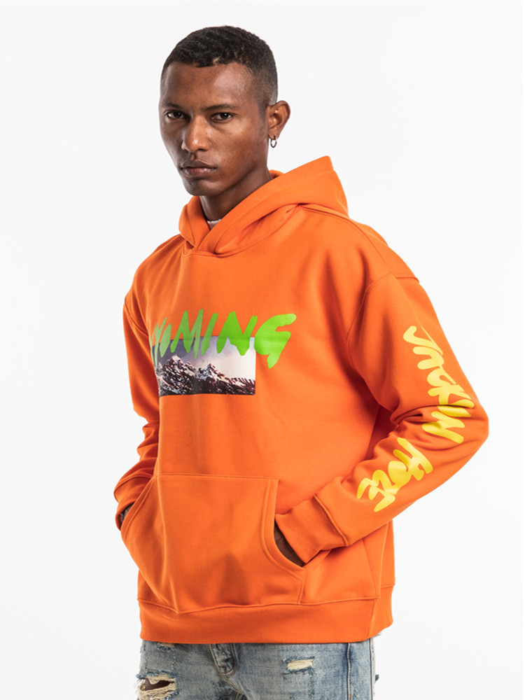 Kanye West Wyoming LISTENING PARTY Hoody Season 5 OVERSIZE Mountains Pattern Letter Printing Men Hoodies Hip Hop Sweatshirt