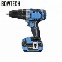 Bodewtech bt372 chave de fenda elétrica furadeira de martelo sem fio 20 volts dc bateria de lítio íon 1/2 Polegada retorno livre de 2 velocidades Furadeiras elétricas     -