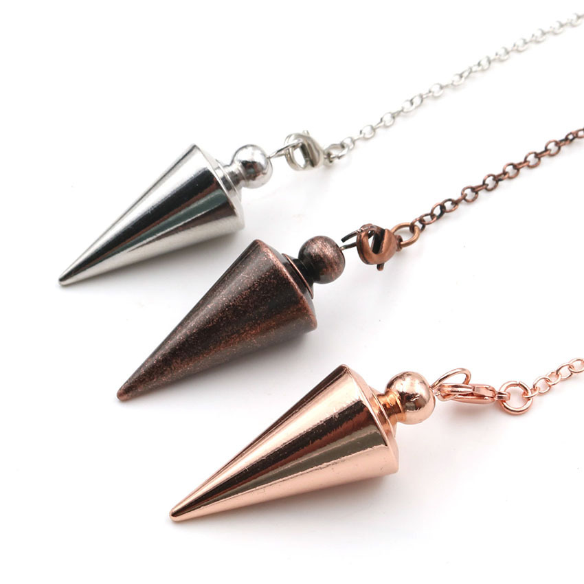 Metal Pendulums for Dowsing Divination Reiki Healing Spiritual Wicca Women Men Amulet Screw Shape Pendule Chains Charm Jewelry 5