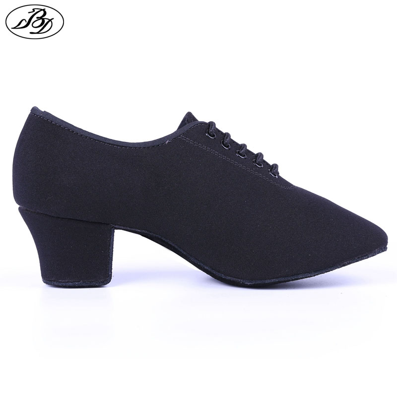 Dancesport Shoe BD Dance T1 Women Teaching Dance Shoes Canvas Ladies Dancing Shoes Ballroom Standard Shoes