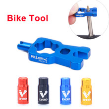 RISK 4 in 1 Bike Valve Core Wrench With 2 Presta Valve caps set Road Bicycle Valve Installation Removal Portable Repair Tool