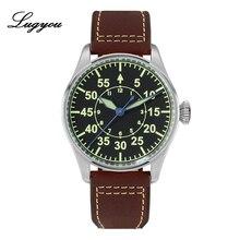 Lugyou San Martin Mechanical Pilot Flieger Men Watch Stainle
