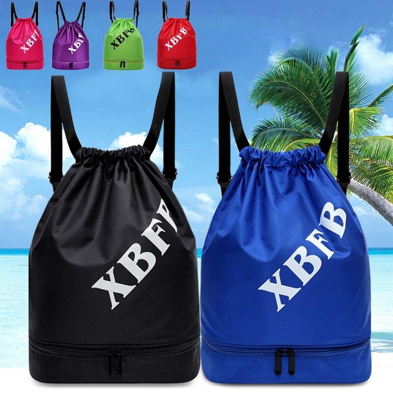 Fashion Men Women String Bag Sports Backpack 2019 New Portable Waterproof Gym Swim Pool Drawstring Bag