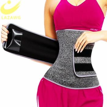 LAZAWG Waist Trainer Belt Waist Cincher Trimmer Slimming Body Shaper Sport Girdle Back Support Elastic Compression Cincher Belt