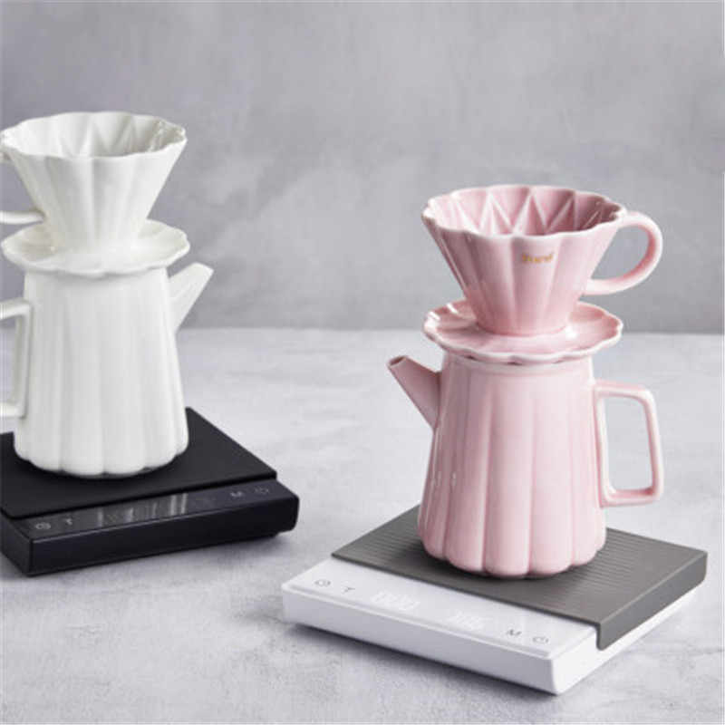 Hero Coffee Scale inteligentna cyfrowa skala wlać kawy elektroniczna skala kawy kroplówki z zegarem do kuchni lada barowa 3KG/0.1g