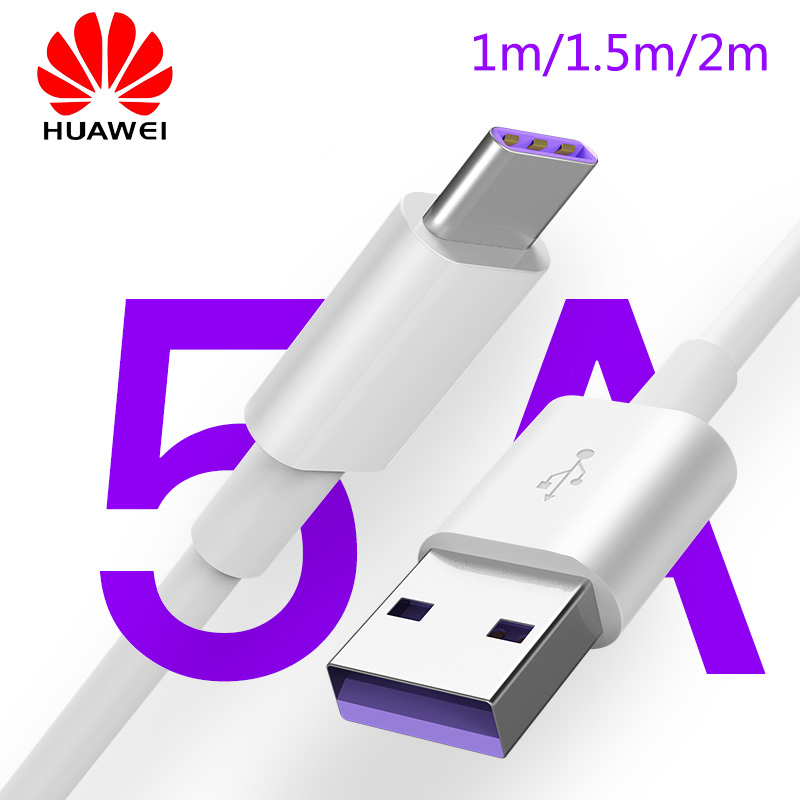 original Huawei 5A Cable supercharge P30 P20 mate 9/10/20 P10 pro honor 20 note 10 view 20 usb Type C Cable Super charging cord 1