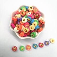 Neue 30 stücke 10mm Lächelndes Gesicht Perlen Polymer Clay Spacer Lose Perlen für Schmuck Machen DIY Armband Zubehör #02