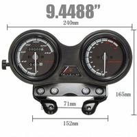 Hot 1pcs Car Styling Black Motorcycle Speedometer Tachometer Complete Clock Gauge For YAMAHA YBR 125 LGB