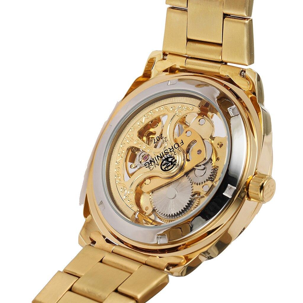 Watches Men Hollo Waterproof Steel Belt Men's Watch Men's Watch Automatic Mechanical Watch  часы мужские