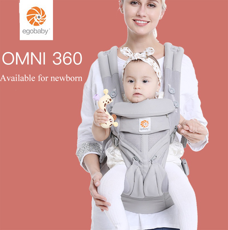Multi-Position Baby Carrier Toddler Newborn Cool Air Mesh Breathable Ergonomic