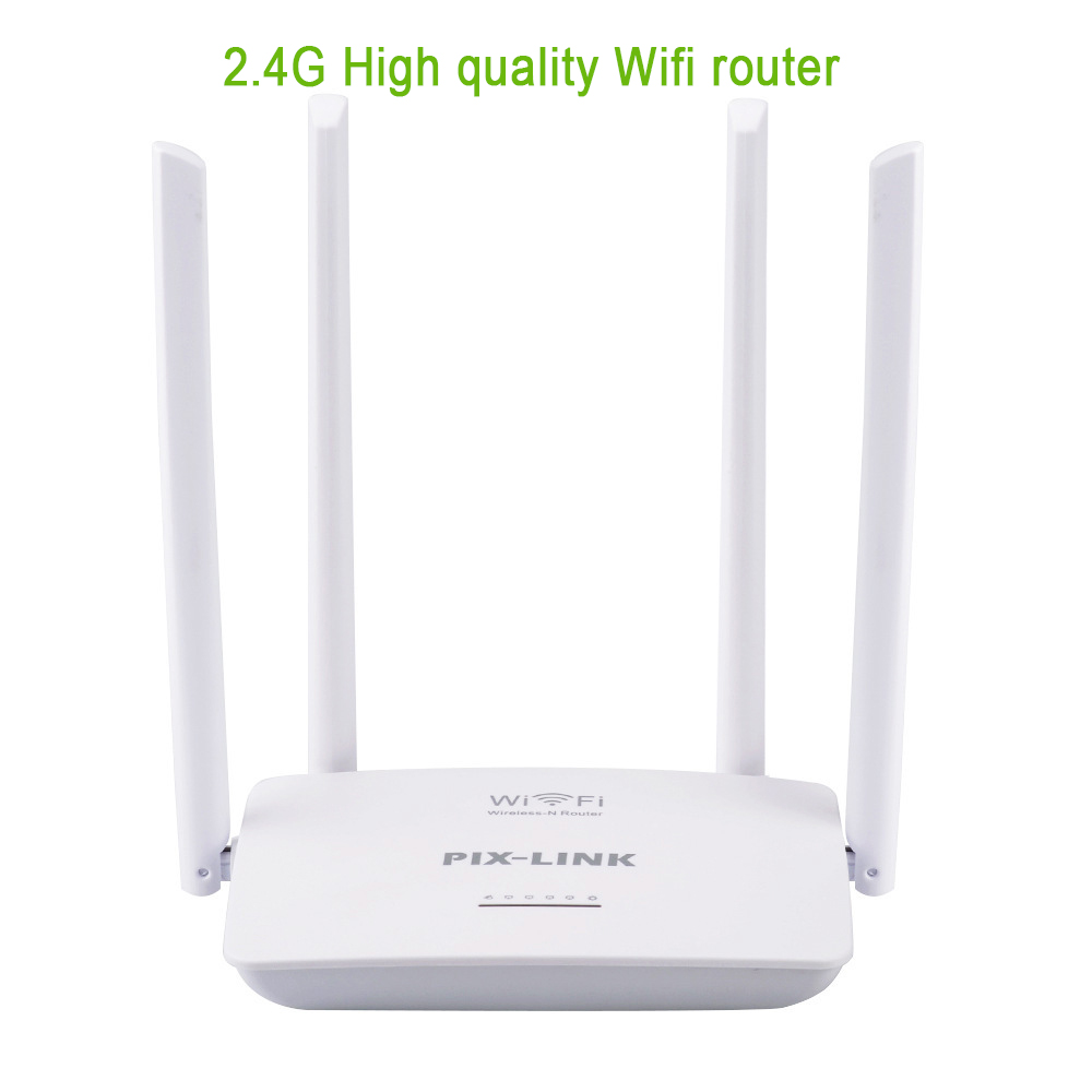 300Mbps Wireless Router 4 Antenna 2.4G WIFI Intelligent Router Manufacturer For Household Wireless Router USB Port