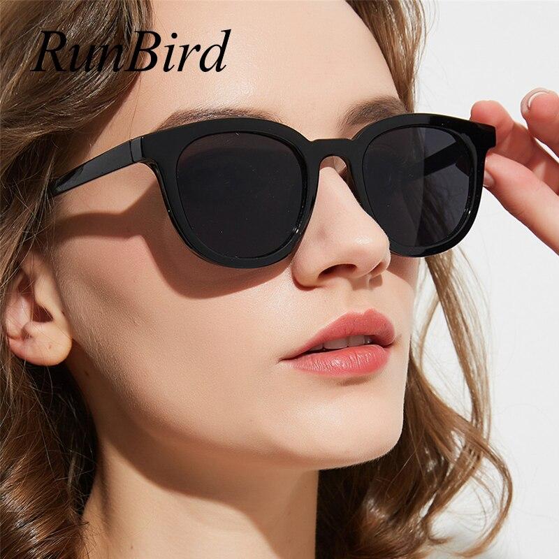 RunBird Retro Sunglasses Women Square Sunglasses Men Vintage Eyeglasses Cat Eyey Classic Durable Style Sun Glasses 5440