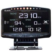 Lufi X1 obd2 prędkościomierz do samochodu Boost-Gauge termometr do wody powietrze/temperatura oleju opałowego temperatura spalin Multifuntion Gauge obrotomierz z LED