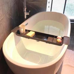 Bathtub Rack Bathroom Organizer Telescopic Drain Plastic Bath Basin Shelf Bathroom Bathtub Storage Holder