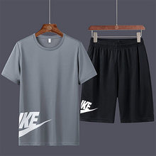 Men's sports and leisure suit 2021 summer use printed outdoor sports short-sleeved plus shorts