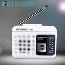 Retekess TR606 Cassette Playback Radio FM/AM Portable Radio Voice Recorder Support Built-in/External Microphone Recording