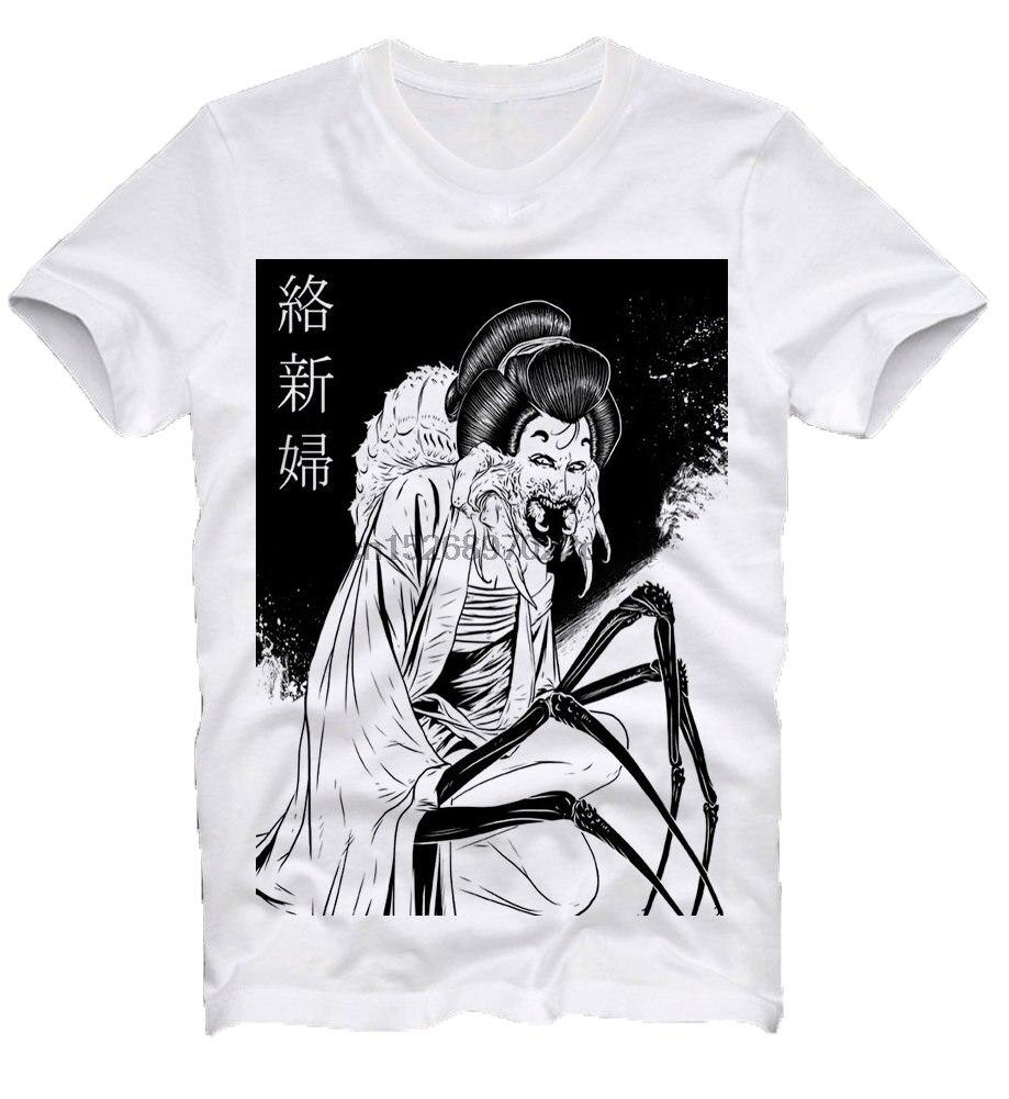 Jorogumo Japan Japanese Anime Manga Horror Guro Gothic Spider Woman Junji Ito Maruo T Shirt Tee Men T Shirt(China)