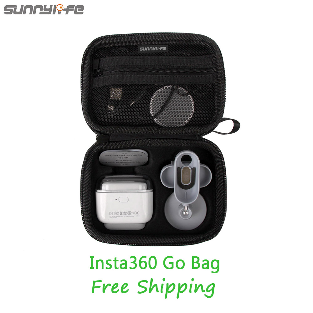 Portable Handheld Storage Bag for Insta360 Go Mini Handbag Carrying Case Hard Shell Protective Box for Insta 360 Go Accessories