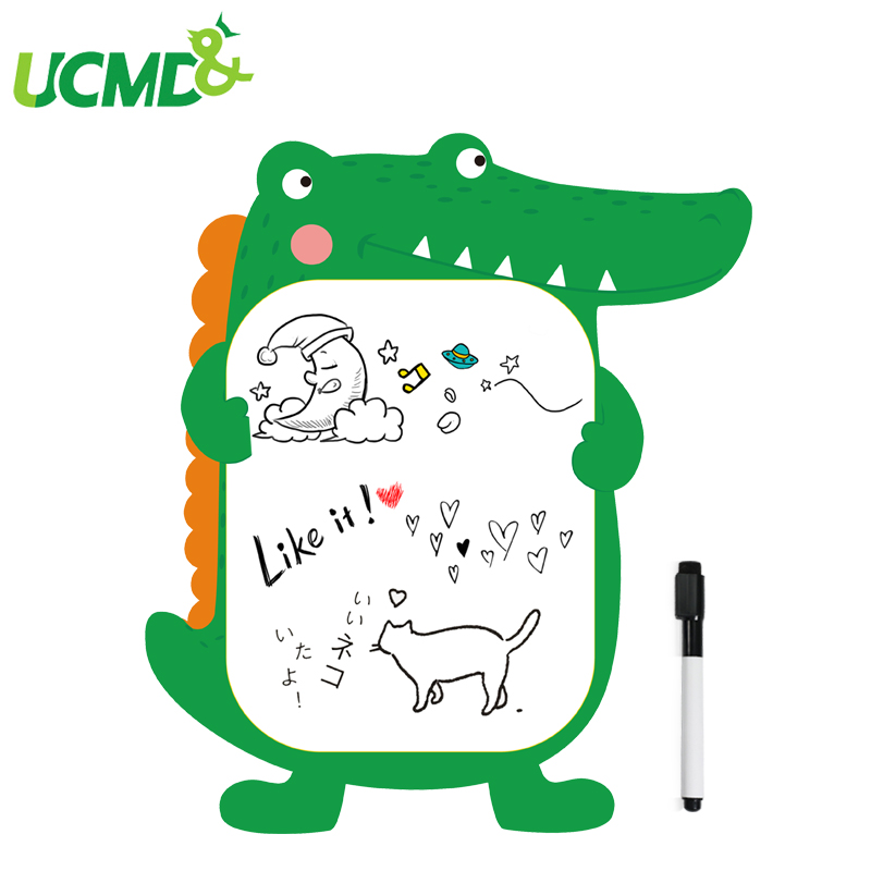 Cute Animal Removable Whiteboard Wallpaper Sticker Self-Adhesive Dry Wipe Message Board Drawing WhiteBoard Toys For Kids Gift
