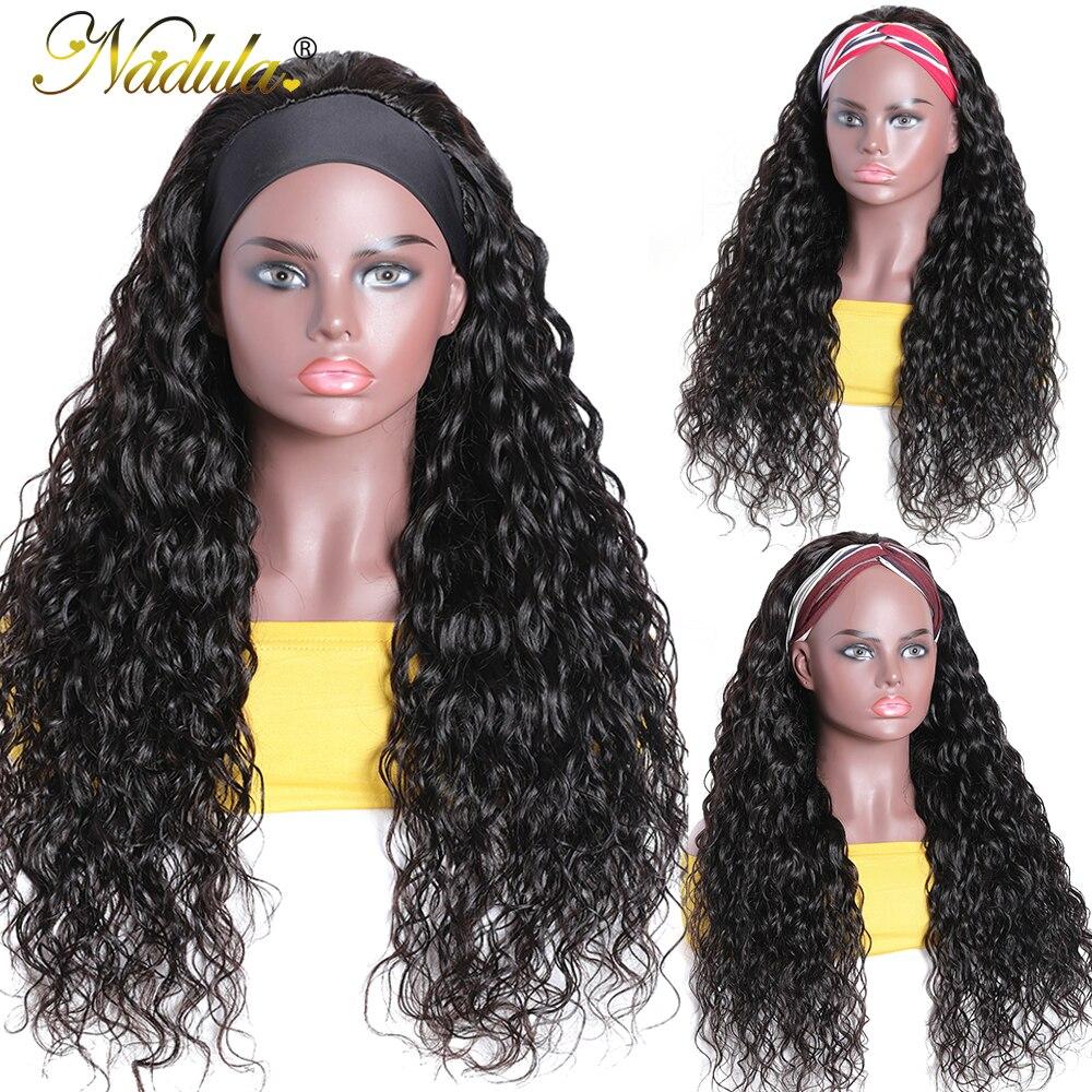 """Nadula  Headband Wig 14""""-26"""" Water Wave Hair Scarf Wig No GLUE Water Wave Headband Wig  for Women Easy Wear 4"""