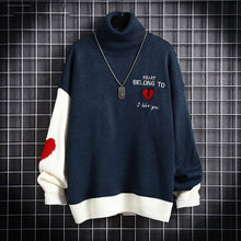 2020 Autumn and Winter Thick Men's Turtleneck Loose Sweater Men's Pullover Trendy Couples Knitwear Sweater Men