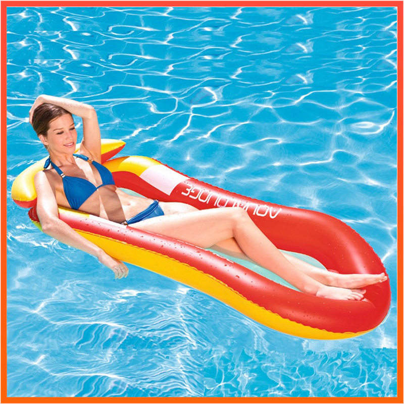 Lounge Float Water Hammock Float Lounger Pool Float Bed Beach Inflatable Lounge Bed Chair Swimming Float  Kids Adults