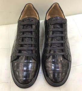 Flats-Shoes Vulcanized-Sneakers Alligator Real Crocodile Genuine Footwear Male Casual