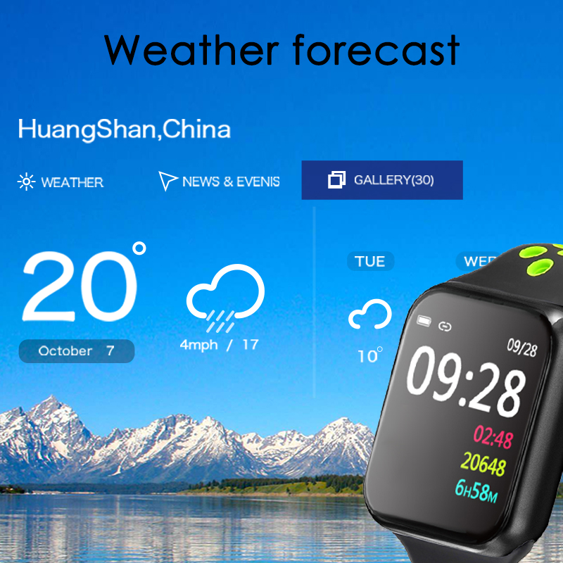 F9 s PK iwo8 b57 Touch Screen smart watches to Monitor Heart rate and Blood pressure Supported for IOS Android for men women 5