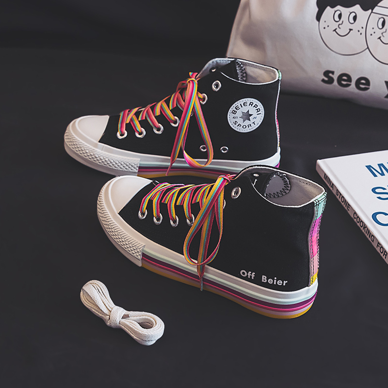 Girls Rainbow Sneakers 8
