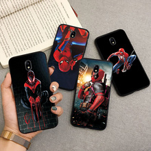 купить Black TPU Fashion Case For Samsung Galaxy J3 2017 EU Version Cartoon Capa Phone Shell For SamsungJ3 J5 J7 2017 Back Cover Fundas дешево