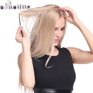 S-noilite 20inch Invisible Wire No Clip One Piece Halo Hair Extension flip in false hair Hairpieces Synthetic hair for women(China)