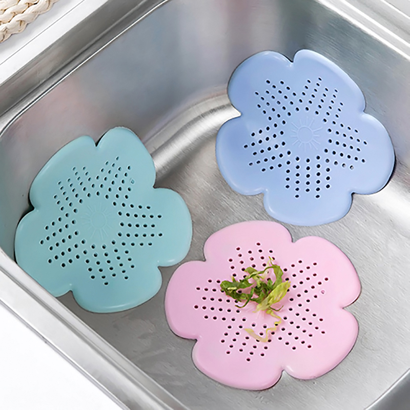 LeKing Kitchen Sink Drain Silicone Hair Catcher Bathroom Stopper Strainers Shower Cover Basin Sink Sewer Hair Filter Accessories
