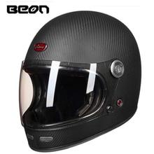 بيون B 510 كامل الوجه ألياف الكربون موتوكروس خوذة بيون 510 خمر دراجة نارية المهنية ريترو الخوذات ECE شهادة