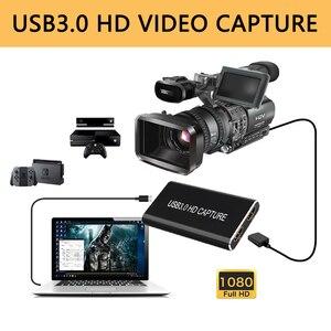 Karta przechwytująca USB3.0 urządzenie do przechwytywania wideo HD HDMI na USB 3.0/USB C Box 1080p 60Hz gra na żywo na PS4 PC MAC windows 10 OsX